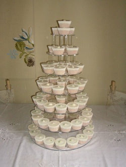 Classikool 7 Tier 5mm Thick Acrylic Wedding Party Favour Cupcake Cake Stand