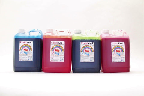 Classikool 4 x 2.5L (2500ml) Slush Puppy Syrup: 78 Flavours & 8 Colours