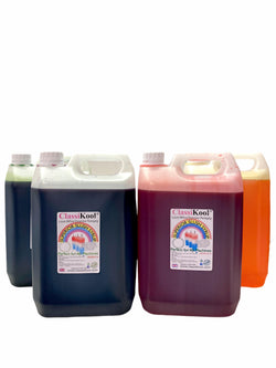 Classikool 4 x 5L Grocery Fruit Slush Syrup Set Concentrated Flavours & Colours