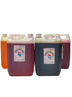 Classikool 4 x 5L Pub Drinks Slush Syrup Set Concentrated Flavours & Colours