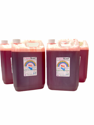 Classikool 4 x 5L Red Strawberry Professional Slush Puppy Syrup Set
