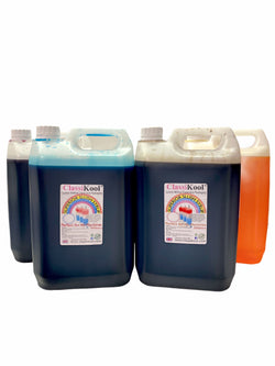 Classikool 4 x 5L Tuck Sweets Slush Syrup Set Concentrated Flavours & Colours