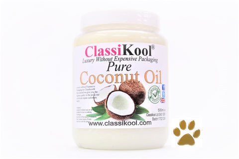 Classikool Coconut Oil for Dogs: 500ml Food Grade for Natural Coat & Skin Care