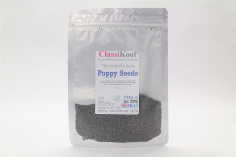 Classikool Poppy Seeds: High Quality Edible Seeds For Cooking, Pastries & Baking