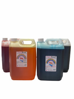 Classikool 4 x 5L Birthday Party Slush Set: Bubblegum, Strawberry, Apple, Banana