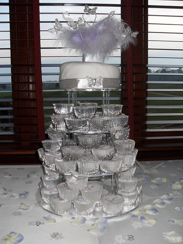 Classikool 5 Tier 5mm Thick Acrylic Wedding Party Favour Cupcake Cake Stand