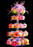Classikool 7 Tier 5mm Thick Maypole Acrylic Wedding Party Favour Cupcake Cake Stand