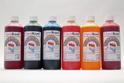 Classikool [6 x 500ml Bottles of Professional Slush Syrup] with 82 Flavour & 8 Colour Choices