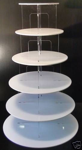 TK Stunning Acrylic Cupcake Cake Stand with Choice of: Colour, Tier Size & Shape