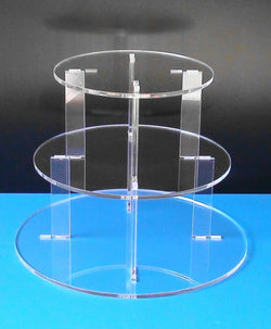 Classikool 3 Tier 5mm Thick Acrylic Wedding Party Favour Cupcake Cake Stand