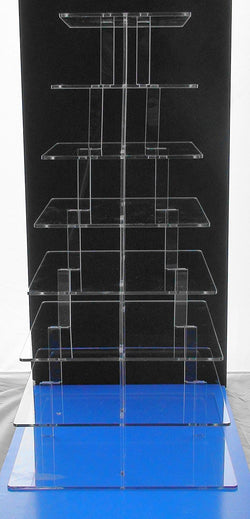 Classikool 8 Tier 5mm Thick Square Acrylic Cupcake Wedding Party Cup Cake Display Stand