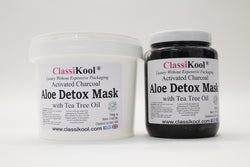 Classikool Activated Charcoal & Aloe Face Pull Detox Skin Care with Tea Tree Oil