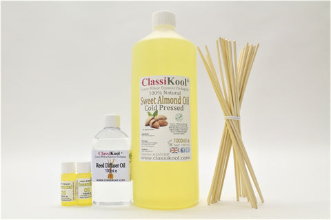 Classikool Aromatherapy Kits: Essential & Carrier Oils with Reed Diffuser Gear