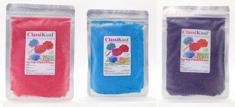 "Classikool x3) 100g ""Very Berries"" Candy Floss Sugar Set"