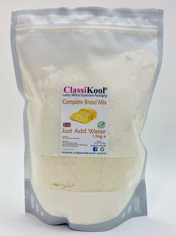 Classikool 1.5kg Complete Bread Mix with Ground Spice Choices: Just Add Water for Fresh Loaves