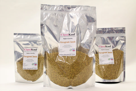 Classikool Fenugreek Seeds High Quality for Cooking Stews, Curries & Baking