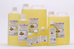 Classikool 100% Pure Natural Sweet Almond Oil Cold Pressed Carrier Massage Oil - 8 Size Choices