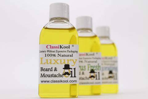 Classikool Natural Beard & Moustache Oil - 100% Essential and Carrier Oils