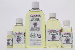 Classikool Borage Oil Cold Pressed 100% Pure Essential Aromatherapy Massage