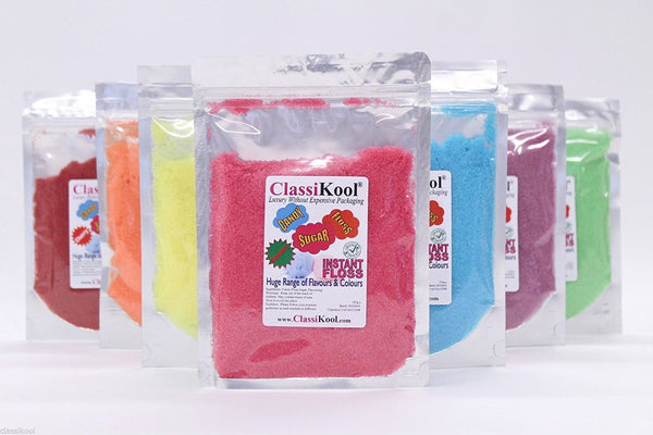 Classikool 250g Instant Candy Floss Sugar: Choose Flavour & Colour (White,Black,Blue,Brown,Green)