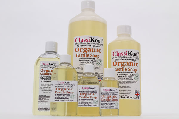 Classikool Organic SLS Free [Liquid Castile Soap]: Your Choice of Essential Oil