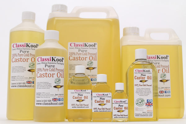 Classikool 100% Pure Castor Oil - Cold Pressed Carrier for Massage Aromatherapy