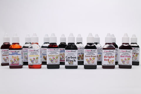 Classikool Choice of 25ml Liquid Droplet Food Colouring: Edible Sugartint for Cakes & Icing