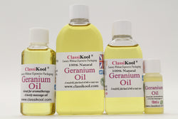 Classikool Geranium Oil: 100% Pure Essential Oil for Aromatherapy & Massage