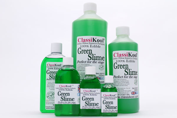 Classikool Mouth-Safe Fake Green/Yellow Slime Goo Makeup for Halloween Zombie Horror - Choose Colour