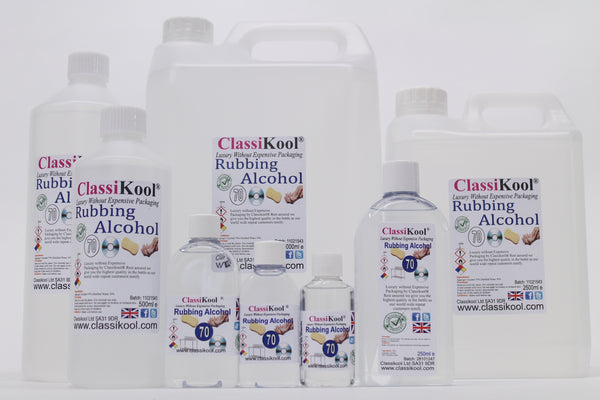 Classikool 70% Pure Isopropyl Rubbing Alcohol - Choose Size