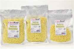 Classikool White & Yellow Beeswax Pellets for Candles, Soap, Balms, Polish and More