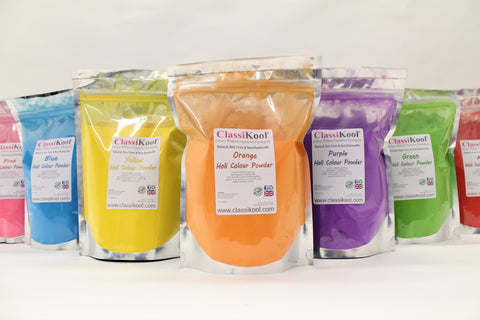 Classikool [500g Holi Festival Throwing Powder 7 Colours Set] Fun Runs & Parties