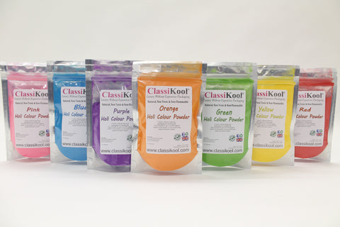 Classikool [100g Holi Festival Throwing Powder 7 Colours Set] Fun Runs & Parties