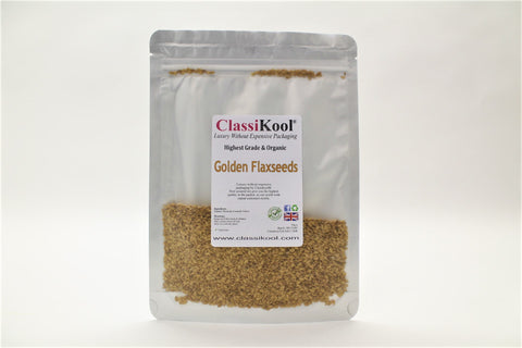 Classikool Organic Golden Flaxseeds (Linseeds) for Cooking & Baking with Omega 3