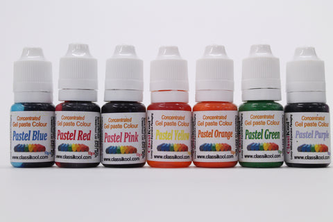 Classikool 10ml Pastel Edible Sugarpaste Food Colouring for Cake Baking