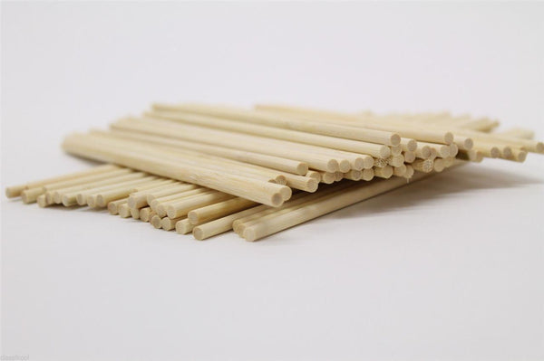Classikool 280mm x 6.5mm Round Wooden Cake Pop Sticks