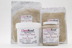 Classikool Natural Exfoliating Sugar Face & Body Mask Beauty Scrub
