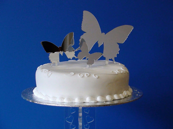 Classikool Mirror Butterfly Cake Topper Set