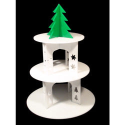 Classikool 3 Tier White Christmas Themed Cupcake Display Stand