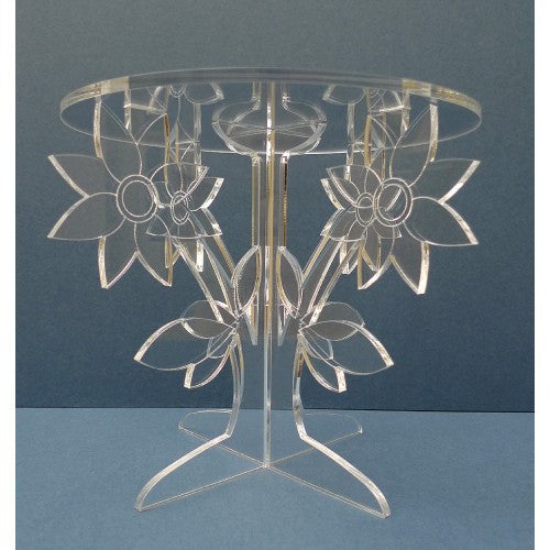 Flower Cake Stand in Crystal Clear Acrylic