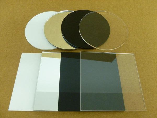 Classikool 3mm Perspex Square Acrylic Discs: 10mm to 200mm in 4 Colours