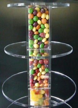 Classikool Tubes Acrylic Cup Cake Stand - Choose Tier Size
