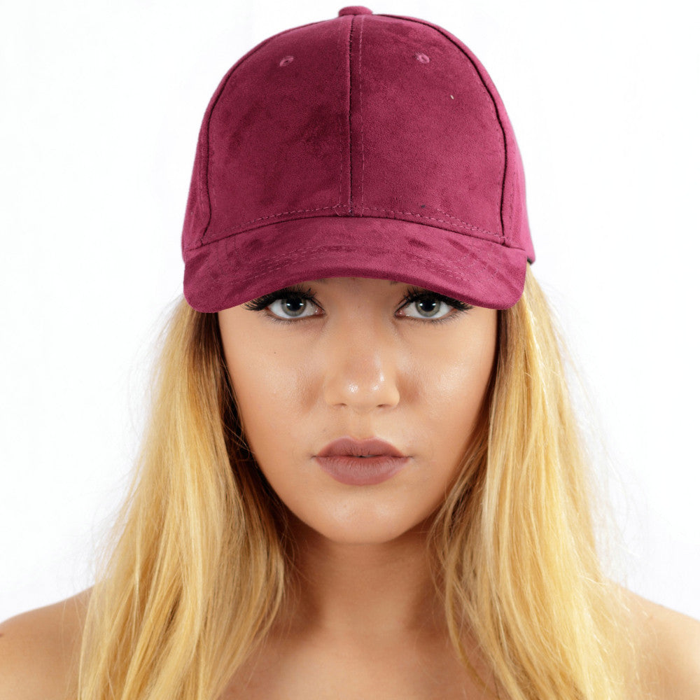 Faux Suede Cap Purple