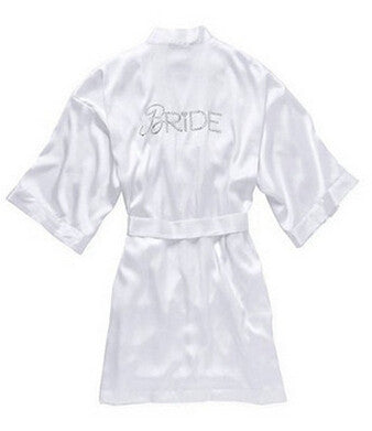 Long Silk Satin Bridal Robes For Wedding Party