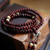 Fashion Bracelets Natural 6mm Rosewood Beads 108 Buddha Bracelets Men Women Long Bangle Religion Gift Wholesale Tibet Jewelry