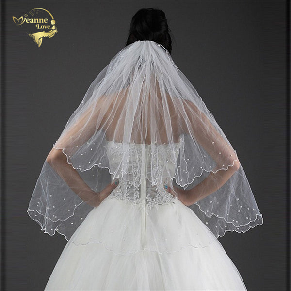 80 cm Long Two Layers Bridal Veil