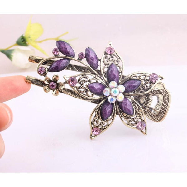 SUSENSTONE Vintage Hair Clip Romantic Jewelry Crystal Hair Clips Hairpins For Hair Clip Tools