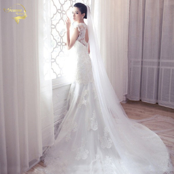 10 meters Simple Tulle Wedding Veils Bridal