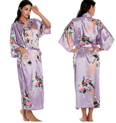 6d01482b93 Floral Bridesmaids Long Kimono Robe Bride Silk Robe Dressing Gown Right  Carousel Arrow