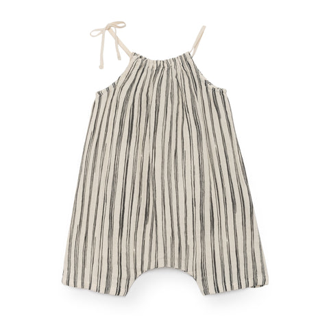 little creative factory - BABY BAMBOO STRIPED JUMPSUIT - Black
